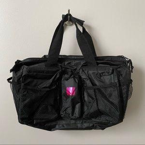 Black Multi Pocket Zipper Tote